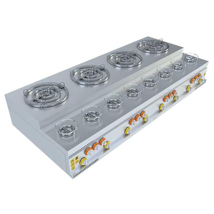 (4x3)+(8x1) BASAMAKLI KÜNEFE OCAĞI, 4x3)+(8x1) STEERING KUNEFE FURNACE, KUNEFE QUARRY, Stove, Beka, Beka Mutfak, industrial, kitchen, industrial kitchen