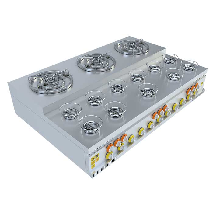 (3x3)+(11x1) BASAMAKLI KÜNEFE OCAĞI, (3x3)+(11x1) STEERING KUNEFE FURNACE, KUNEFE QUARRY, Stove, Beka, Beka Mutfak, industrial, kitchen, industrial kitchen