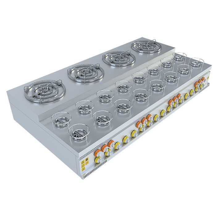 (4x3)+(16x1) BASAMAKLI KÜNEFE OCAĞI, (4x3)+(16x1) STEERING KUNEFE FURNACE, KUNEFE QUARRY, Stove, Beka, Beka Mutfak, industrial, kitchen, industrial kitchen