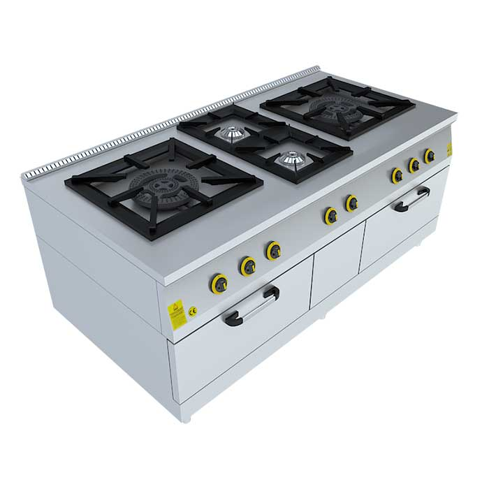 1x(60x60)4x(40x40) KUZİNE (2 Fırınlı), Beka, Beka Mutfak, industrial, kitchen, industrial kitchen