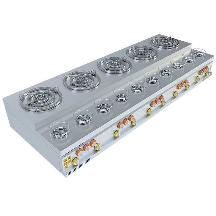 (5x3)+(10x1) BASAMAKLI KÜNEFE OCAĞI, (5x3)+(10x1) STEERING KUNEFE FURNACE, KUNEFE QUARRY, Stove, Beka, Beka Mutfak, industrial, kitchen, industrial kitchen