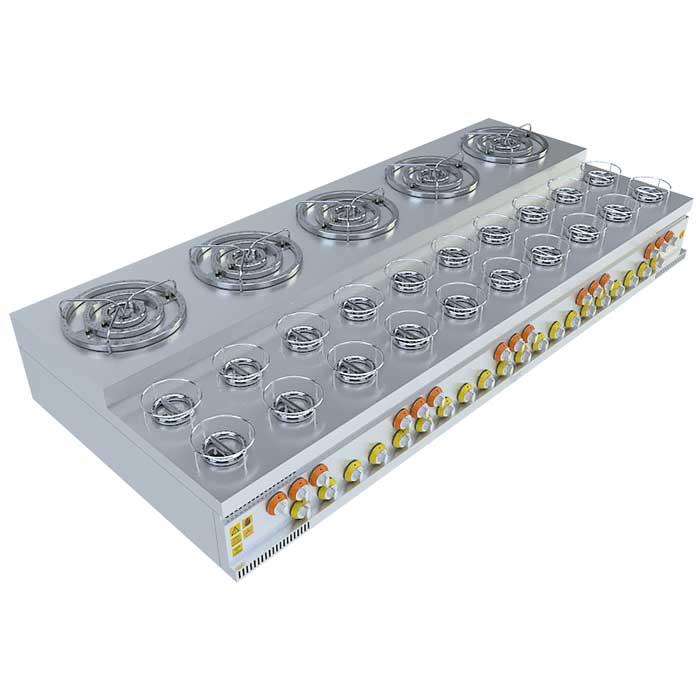 (5x3)+(20x1) BASAMAKLI KÜNEFE OCAĞI, (5x3)+(20x1) STEERING KUNEFE FURNACE, KUNEFE QUARRY, Stove, Beka, Beka Mutfak, industrial, kitchen, industrial kitchen