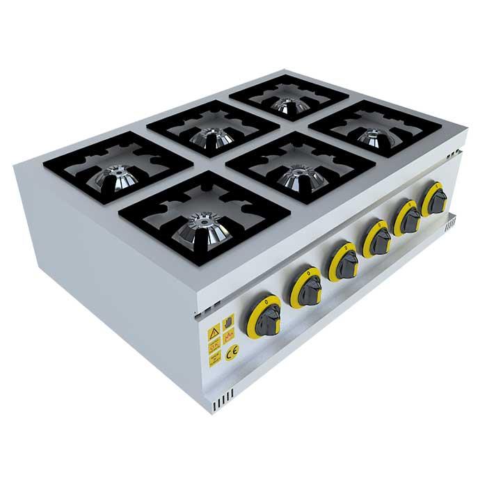 6'LI SET ÜSTÜ MİNİ OCAK,mini ocak,stove, Beka, Beka Mutfak, industrial, kitchen, industrial kitchen