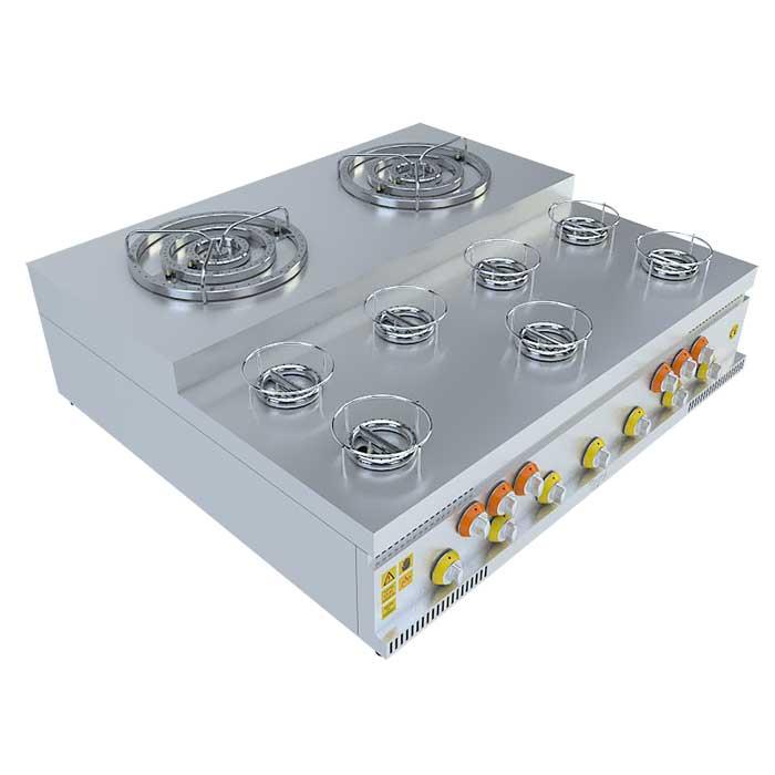 (2x3)+(7x1) BASAMAKLI KÜNEFE OCAĞI, (2x3)+(7x1) STEERING KUNEFE FURNACE, KUNEFE QUARRY, Stove, Beka, Beka Mutfak, industrial, kitchen, industrial kitchen