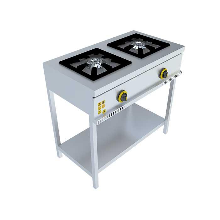 2'Lİ TABAN RAFLI MIDI OCAK,stove, Beka, Beka Mutfak, industrial, kitchen, industrial kitchen